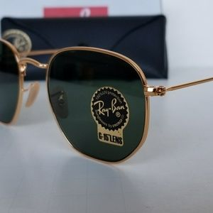 Ray-Ban Accessories - Ray Ban Hexagonal gold/g15 green lenses 51mm 🇮🇹